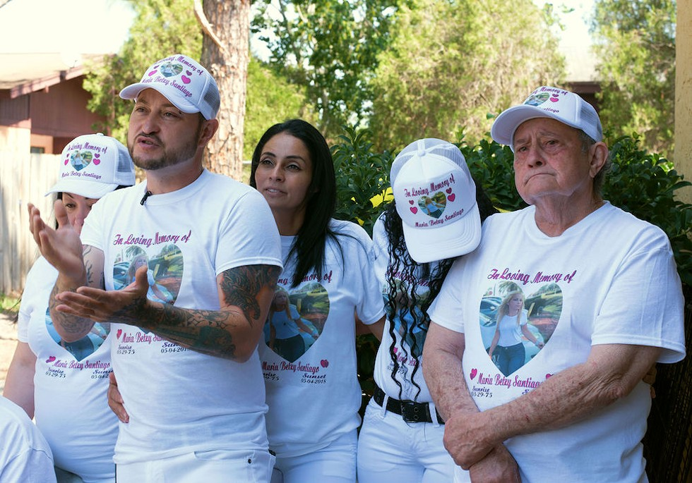Betzy's family gathered at her brother's house before her funeral - PHOTO BY MONIVETTE CORDEIRO