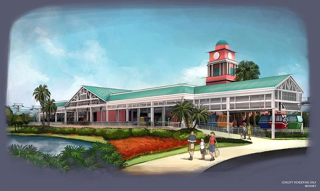 The Caribbean Beach station of the Disney Skyliner - PHOTO VIA DISNEY