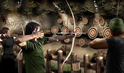 The archery section of the Bear Grylls Adventure - IMAGE VIA BEAR GRYLLS ADVENTURE | FACEBOOK