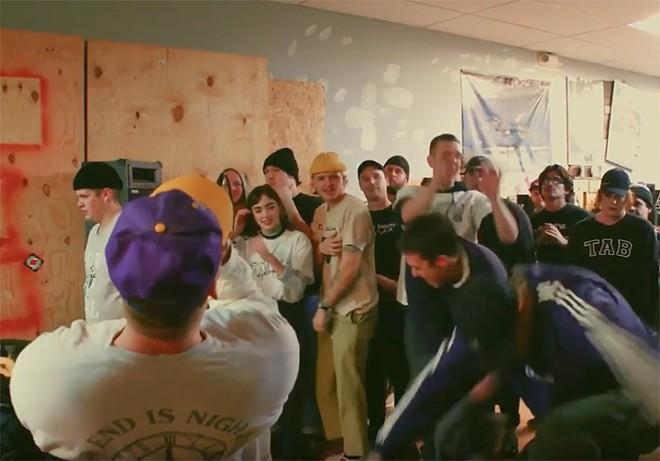 Diztort at Refuge Skate Shop in Dearborn, Michigan, Dec. 21, 2017 - SCREENCAP FROM YOUTUBE