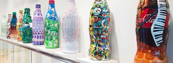 Bottle art similar to that found in the soon to open SeaWorld Pass Member Lounge - IMAGE VIA SEAWORLD