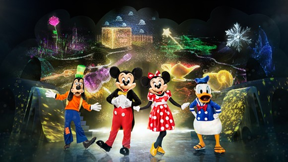 Mickey and pals are playing it cool in Orlando's Amway Center during this weekend's world premiere of their latest Disney On Ice tour. - FELD ENTERTAINMENT/DISNEY