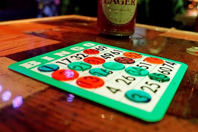 Nadeem's Cheap Assed Bingo at Will's Pub - JIM LEATHERMAN