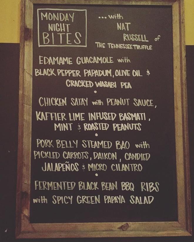 Monday Night Bites menu