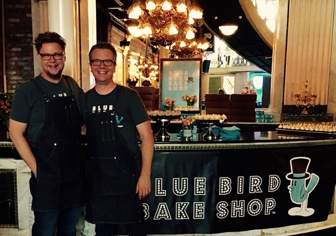 Blue Bird Bake Shop's Jeff Lambert and Joel Pfrogner at Orlando Weekly's Bite Night in 2015
