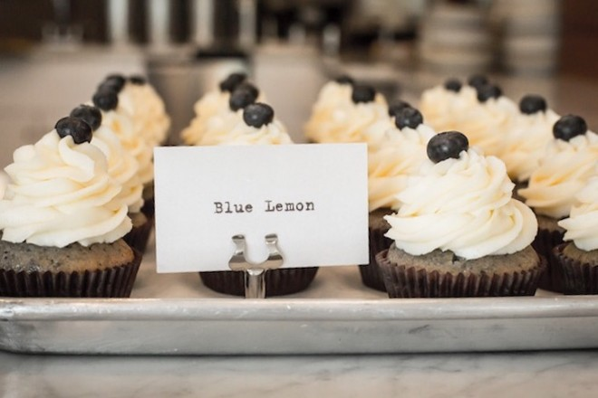 Just like their avian mascot, BBBS cupcakes wear a top hat – of frosting.