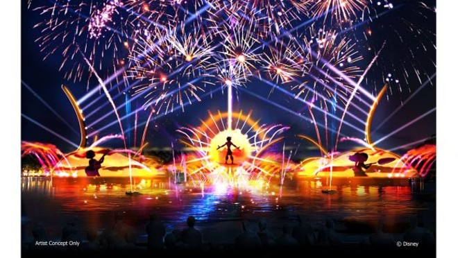 Concept art for the new Epcot nighttime spectaular - IMAGE VIA DISNEY PARKS BLOG