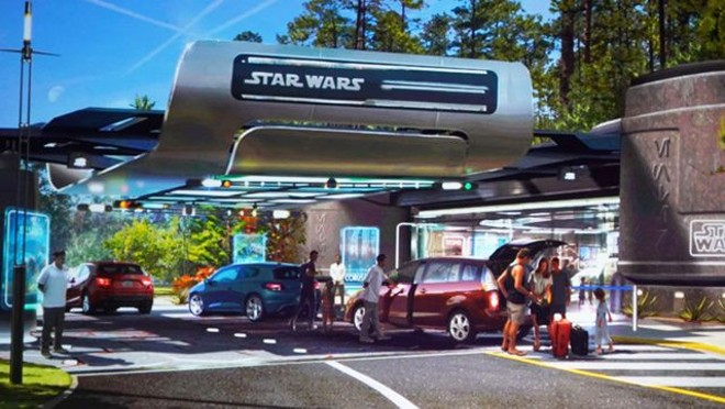The Star Wars hotel's main guest drop-off area - IMAGE VIA DISNEY