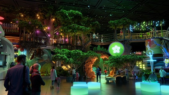 The Nature zone within the Experience PBS attraction