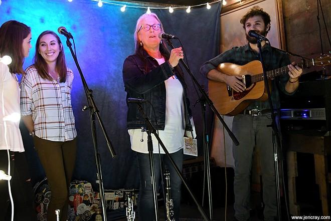 The Prado Sisters, Terri Binion and Matthew Fowler at Folk Yeah 3 - JEN CRAY