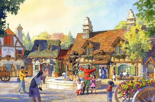 Tokyo Disneyland's upcoming Beauty and the Beast mini-land - IMAGE VIA DISNEY PARKS BLOG