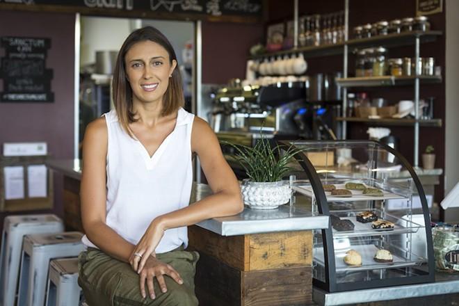 Sanctum Cafe owner Chelsie Savage - ROB BARTLETT