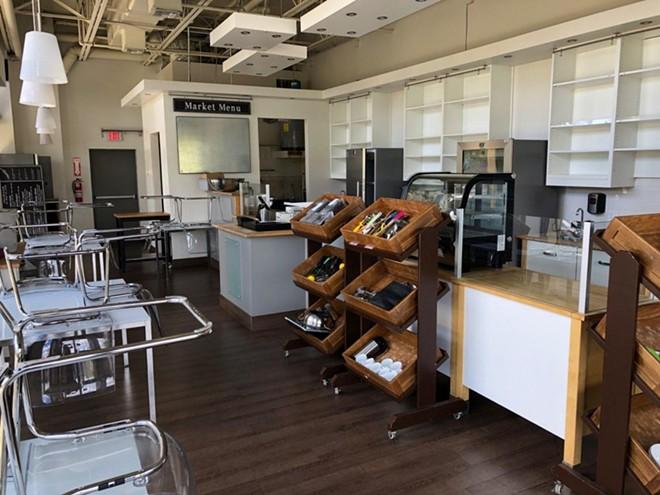 Interior of Sanctum Coffee & Juice Bar - JAMIE SAVAGE