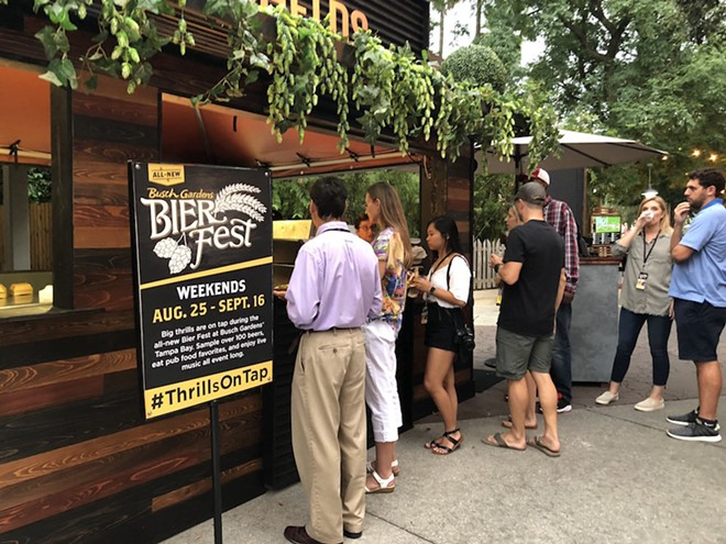 Bierfest at Busch Gardens Tampa - PHOTO BY SETH KUBERSKY