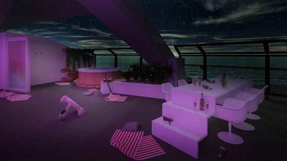 The Massive Suite's balcony - IMAGE VIA VIRGIN VOYAGES