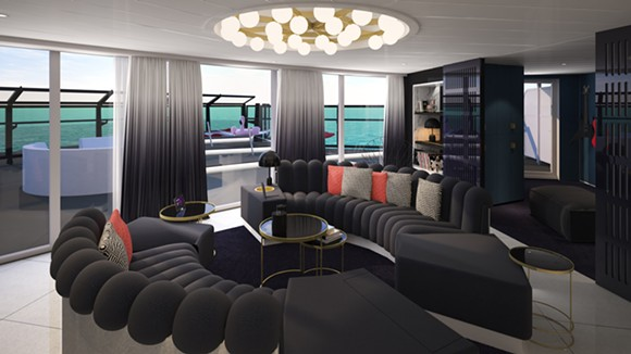 The Massive Suite's living room - IMAGE VIA VIRGIN VOYAGES