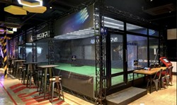 Virtual batting cages at Legends Heroes Park in Macau - IMAGE LEGENDS HEROES PARK