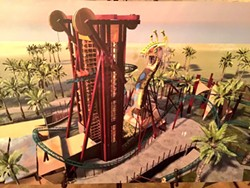 Concept art for Cobra's Curse, the new family coaster coming to Busch Gardens Tampa in 2016. - IMAGE COURTESY BUSCH GARDENS TAMPA
