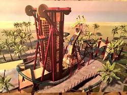 Concept art for Cobra's Curse, the new family coaster coming to Busch Gardens Tampa in 2016. - IMAGE COURTESY BUSCH GARDENS TAMPA