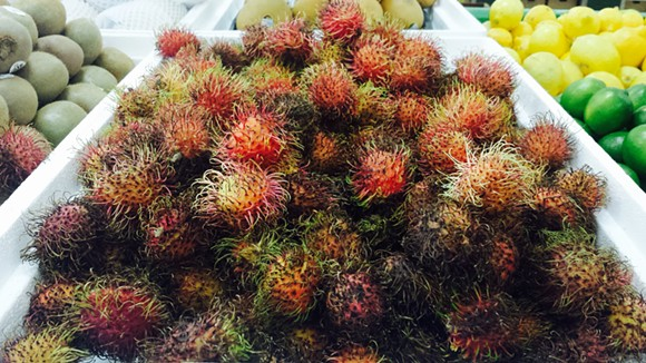 FRESH RAMBUTANS (PHOTO BY HOLLY V. KAPHERR)