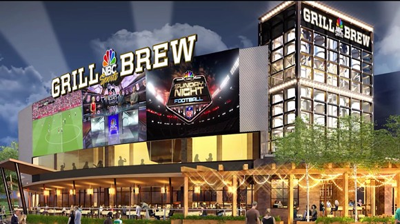 Concept art of the new NBC Sports Grill & Brew, coming to CityWalk this fall. - IMAGE VIA UNIVERSAL ORLANDO