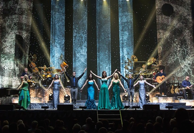 The four musicians of Celtic Woman are joined by a full band, choir, bagpipers and Irish dancers at Bob Carr Oct. 31. - PHOTO BY DAVID CONGER