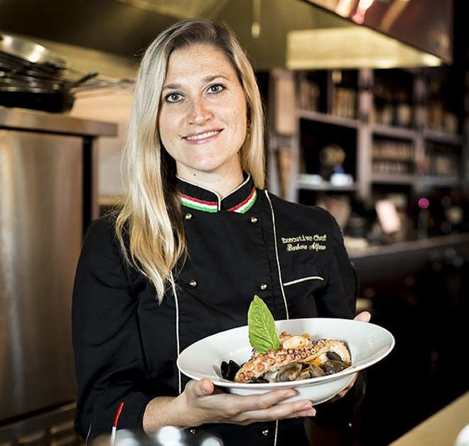 Chef Barbara Alfano at her restaurant, Peperoncino - PHOTO BY ROB BARLTETT