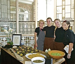 CHEF KATHLEEN BLAKE AND HER TEAM FROM THE RUSTY SPOON AT BITE NIGHT 2014