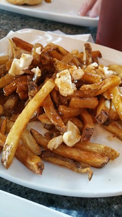 A plate of poutine at Union Burger