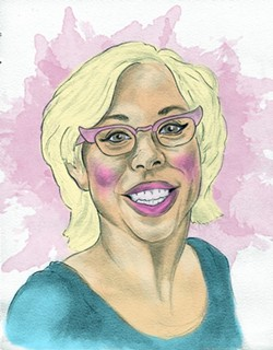 Emily Ellyn, local chef and food educator - ILLUSTRATION BY CHRISTOPHER KRETZER