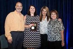 Paul Wean, Joan Wean and Barbara Sheridan with Mayor Teresa Jacobs