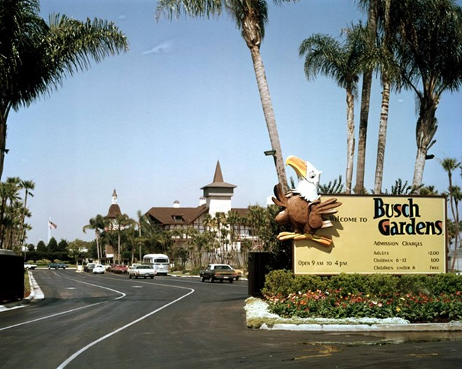 A retro photo from Busch Gardens Tampa. Parking is no longer $2. - PHOTO VIA BUSCH GARDENS TAMPA/FACEBOOK