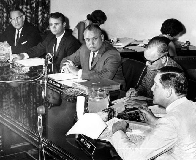 """The """"Johns"""" Committee holds a public hearing in Tallahassee on July 31, 1964. - PHOTO BY PAPPY NOEL VIA FLORIDA STATE ARCHIVES"""