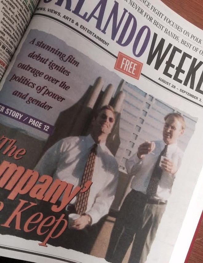 The cover of the Aug. 28-Sept. 3, 1997 issue of Orlando Weekly