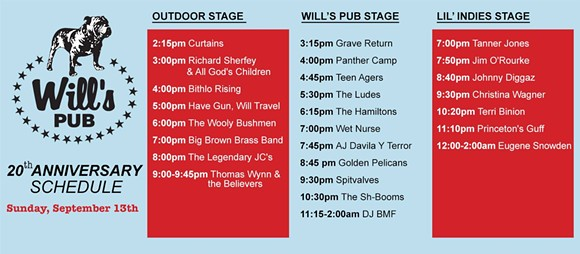 VIA 20 YEARS OF WILL'S PUB FACEBOOK EVENT