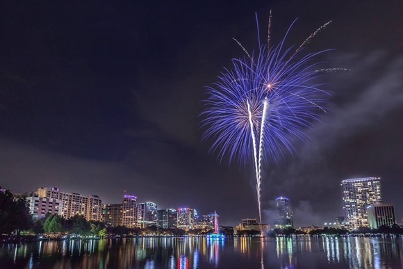 """Fireworks Over Lake Eola"" - ALI ELHAJJ, VIA FACEBOOK"