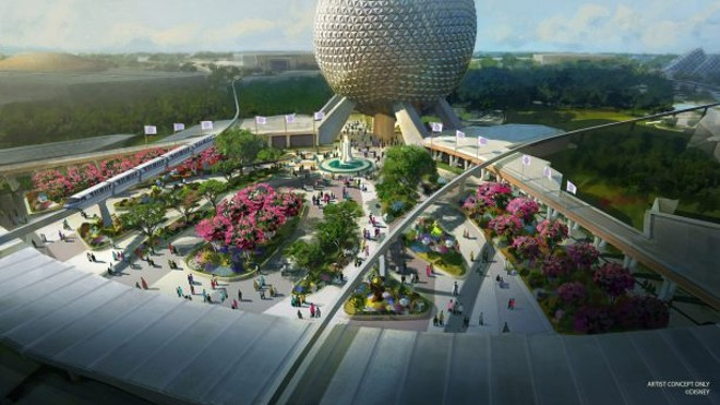 Epcot's planned redesigned entrance - CONCEPT ART VIA DISNEY