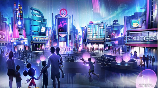 The new Play pavilion proposed for Epcot - CONCEPT ART VIA DISNEY