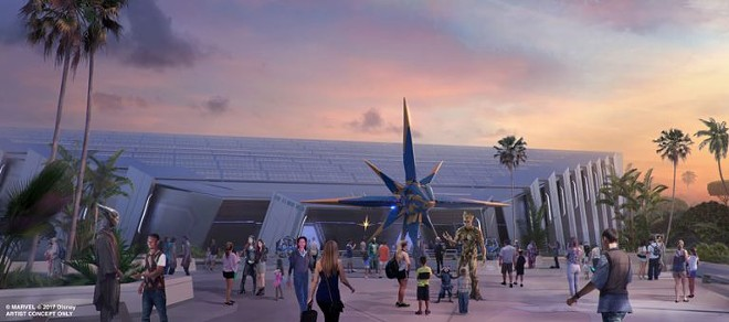The Guardians of the Galaxy ride at Epcot - PHOTO VIA DISNEY