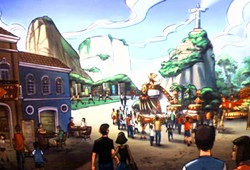 One of the renderings leaked of an early Brazil pavilion concept for Epcot - PHOTO VIA WDWMAGIC.COM