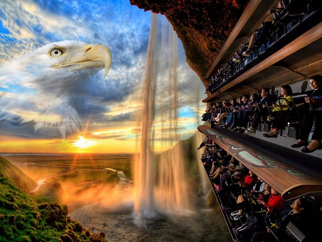 "Wings over Washington is a Dynamic Attractions ""flying theater"" opened in Seattle in 2016. - PHOTO VIA DYNAMIC ATTRACTIONS"