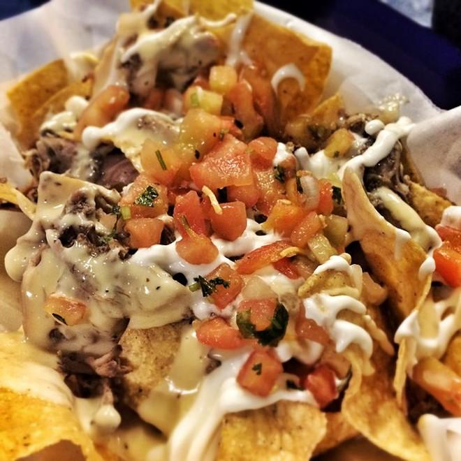 Gringos Locos O.G. nachos with pork - PHOTO VIA FOODSPOTTING