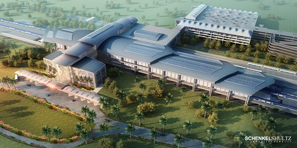 An artist rendering of the Orlando station - PHOTO VIA ALL ABOARD FLORIDA