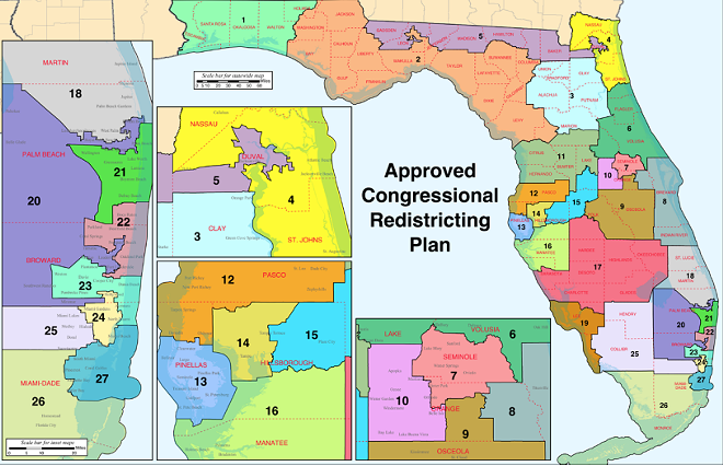 Floridas Congressional District Map Is Done Let The State Florida - Us house district 13 map