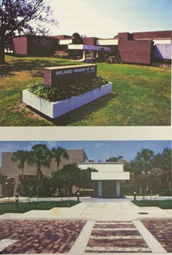 "Old photos of the Orlando Museum of Art from their ""Forward to 100"" vision plan - IMAGES COURTESY ORLANDO MUSEUM OF ART"