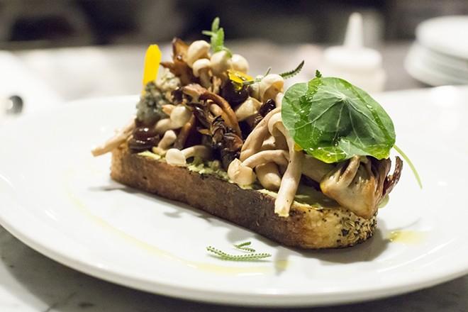 The mushroom tartine served at Baldwin Park's Osprey Tavern. - ROB BARTLETT