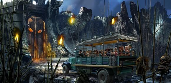 Concept art for Reign of Kong at Universal Studios - PHOTO VIA UNIVERSAL