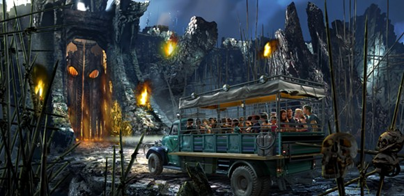 Concept art for Reign of Kong at Universal Studios - PHOTO VIA UNIVERSAL