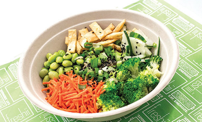 Edamame and tofu bowl at Freshii - PHOTO BY ROB BARTLETT
