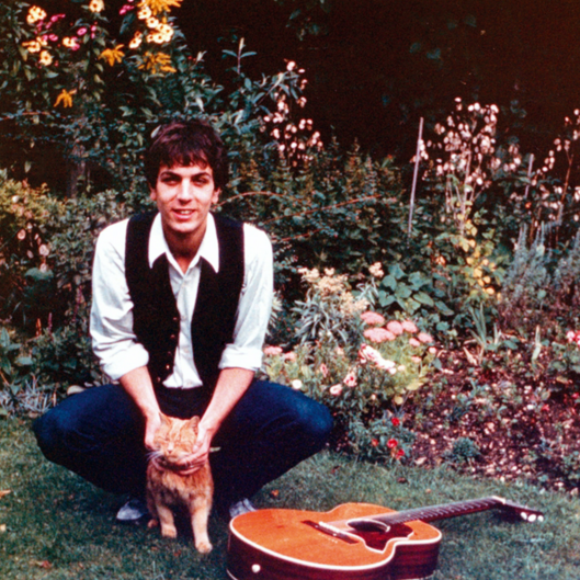 1963: Syd with Frisky the cat, Hills Road, Cambridge - (FAMILY PHOTO)